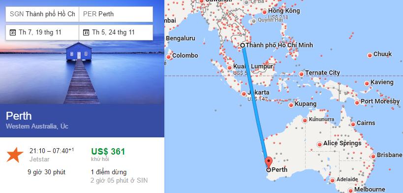 Tham khảo hành trình bay từ TP HCM đến Úc