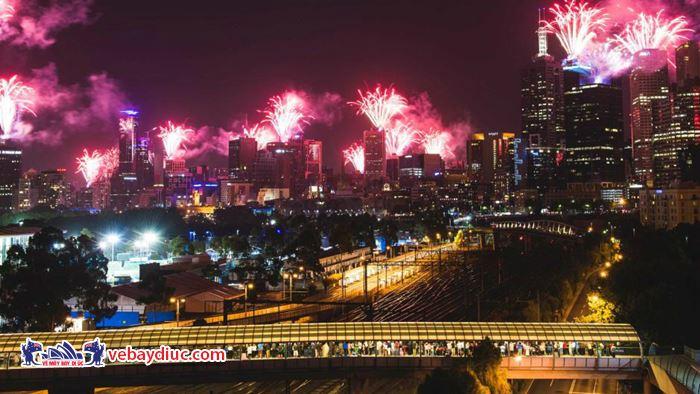 Những màn pháo  hoa ấn tượng ở Melbourne