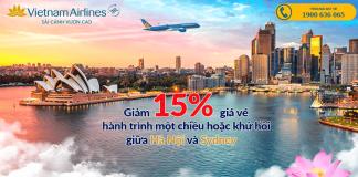 Vietnam Airlines khuyến mại vé máy bay đi Sydney giá rẻ